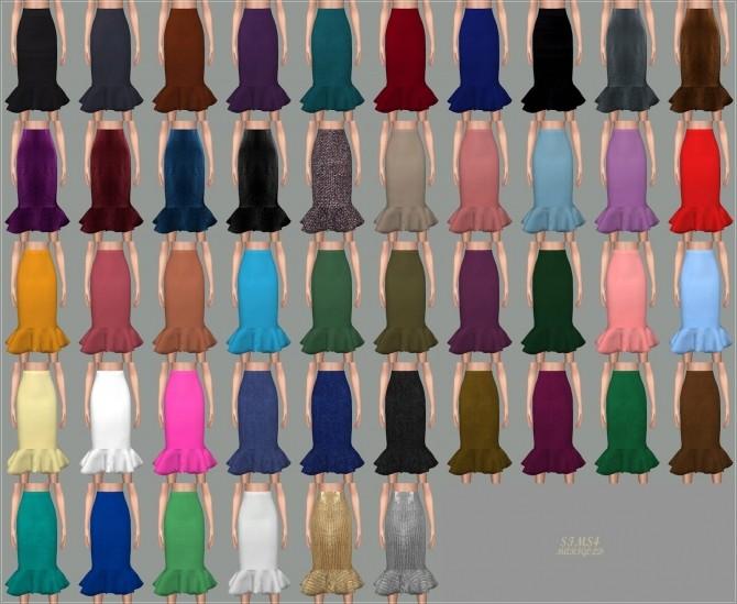 Mermaid Line Midi Skirt v2 single colors at Marigold image 1029 670x549 Sims 4 Updates