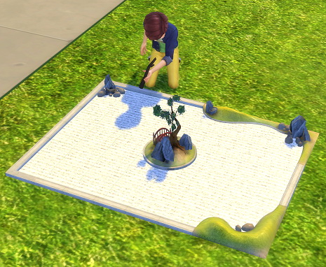 Sims 4 2 to 4 Zen Garden as Dollhouse by BigUglyHag at SimsWorkshop
