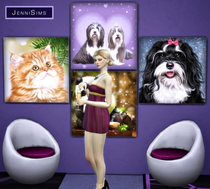 Paintings Gift Of Love (17 designs) at Jenni Sims image 10418 670x604 Sims 4 Updates