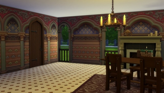 Sims 4 Go Goth! Wall texture by Velouriah at Mod The Sims