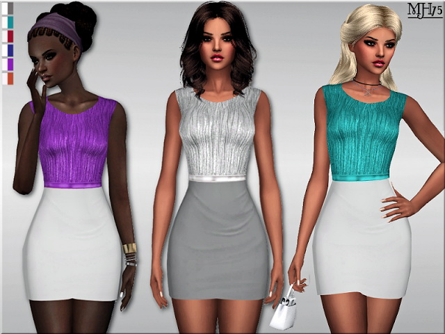 Sims 4 S4 Devalera Dress by Margeh75 at Sims Addictions