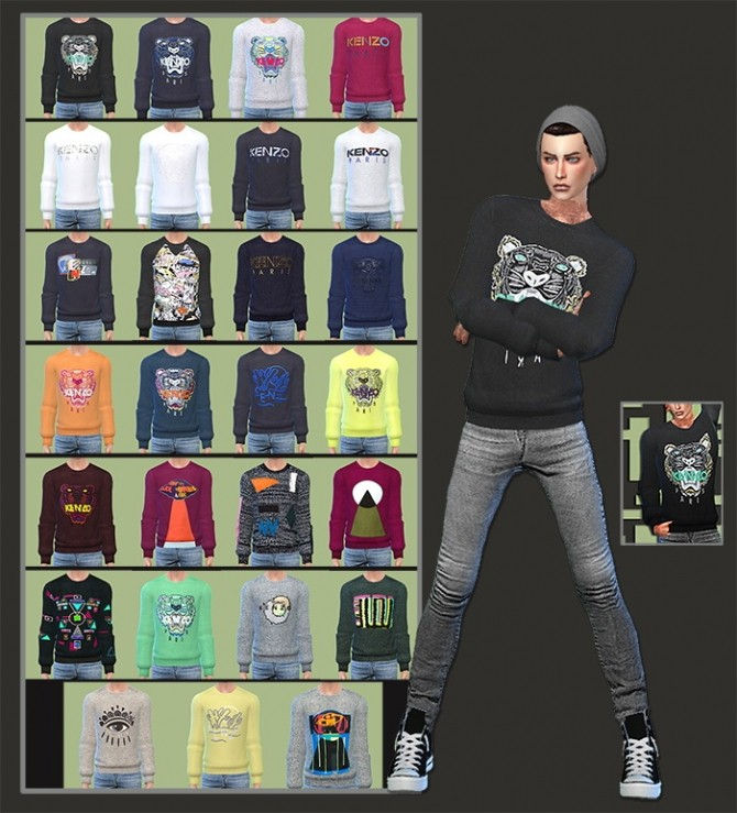 Sims 4 Sweaters For Males at Gisheld