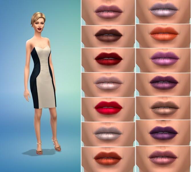 Sims 4 Liquid to Matte Lipstick by MrAntonieddu at MA$ims4