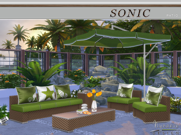 Sonic patio by nynaevedesign at tsr sims 4 updates for Sims 4 exterior design