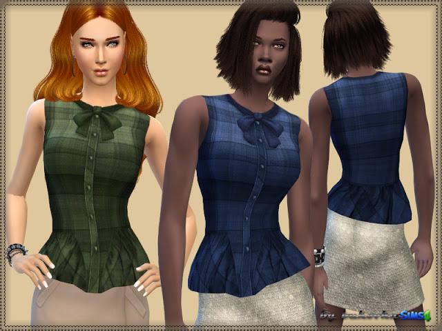 Plaid Blouse at Bukovka image 10915 Sims 4 Updates