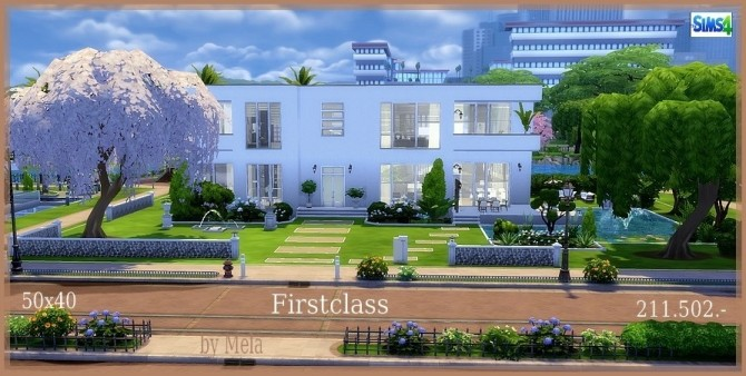 Sims 4 Firstclass house by melaschroeder at All 4 Sims
