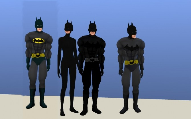Batman Costume By G1g2 At Mod The Sims 187 Sims 4 Updates