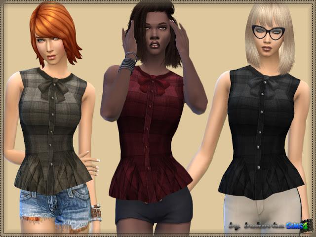 Plaid Blouse at Bukovka image 11018 Sims 4 Updates