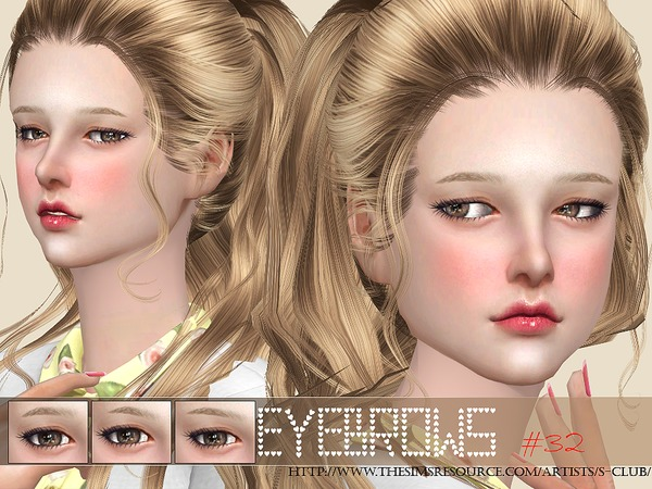 Eyebrows32 F by S Club WM at TSR image 1108 Sims 4 Updates