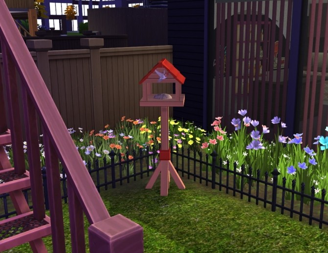 Sims 4 Simple Bird Table at SimLifeCC