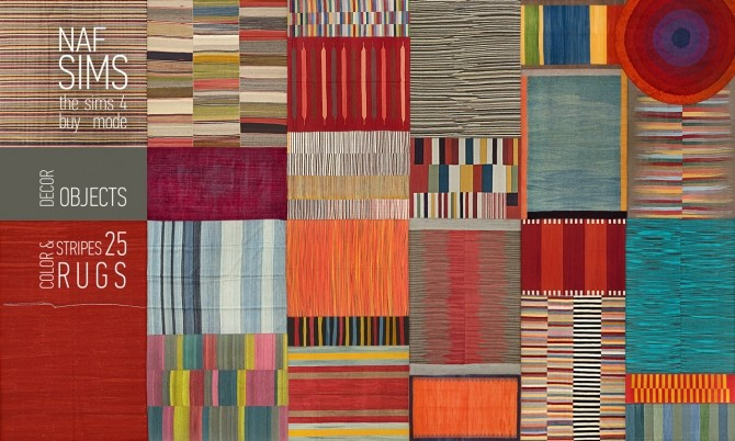 Color & Stripes Rug Collection by nafSims at Mod The Sims image 11310 670x402 Sims 4 Updates