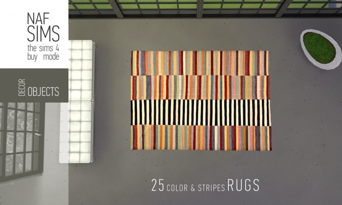 Color & Stripes Rug Collection by nafSims at Mod The Sims image 1159 670x402 Sims 4 Updates