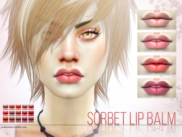 Sims 4 Sorbet Lip Balm by Pralinesims at TSR
