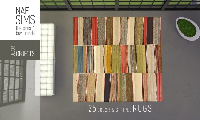 Color & Stripes Rug Collection by nafSims at Mod The Sims image 1169 670x402 Sims 4 Updates