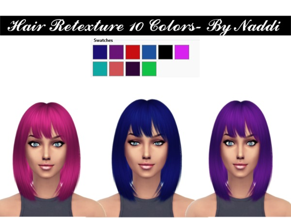 Sims 4 Hair Retexture by Naddiswelt at TSR