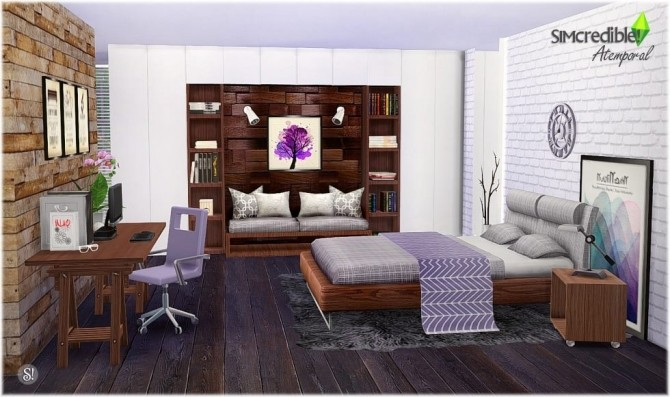 Atemporal bedroom at simcredible designs 4 sims 4 updates - Atemporal sofas ...