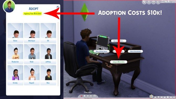 Adoption Costs $10K 1.5 by Simstopics at SimsWorkshop