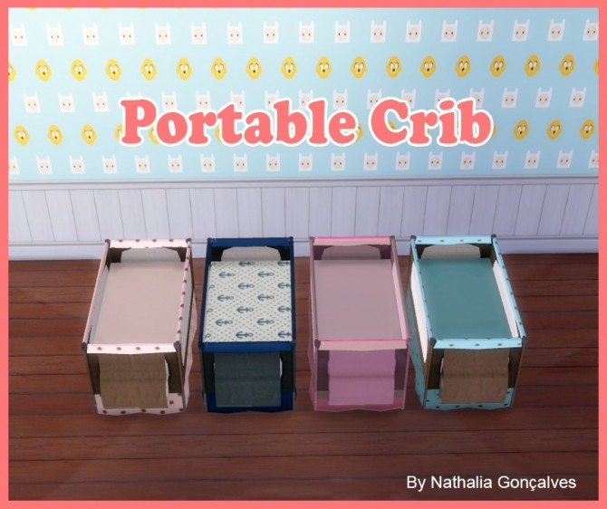 Portable Crib at Nathalia Sims image 1192 670x562 Sims 4 Updates