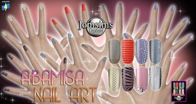 Sims 4 ABAMISA NAIL ART at Jomsims Creations
