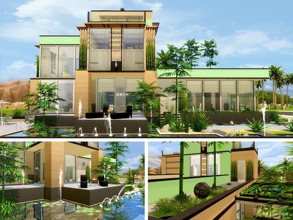 Sims 4 Mint Fresh house by Lhonna at TSR
