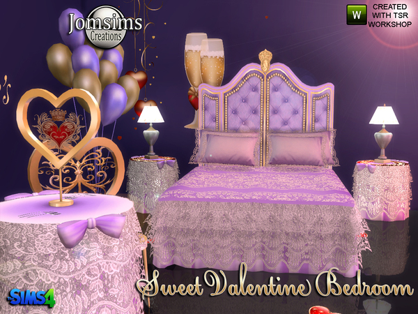Sweet Valentine Bedroom by jomsims at TSR image 1220 Sims 4 Updates