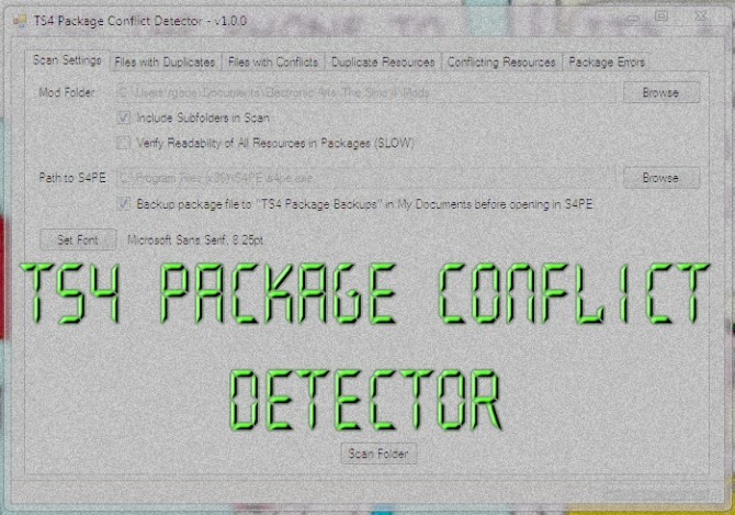 Sims 4 TS4 Package Conflict Detector by scumbumbo at Mod The Sims