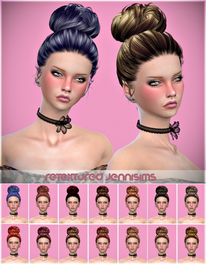 Sims 4 Newsea Emma Swan Hair retexture at Jenni Sims
