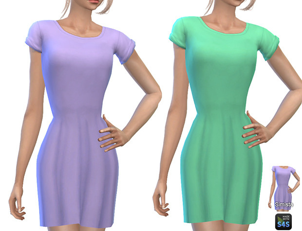 Casual T Shirt Dresses at Simista image 122 1 Sims 4 Updates