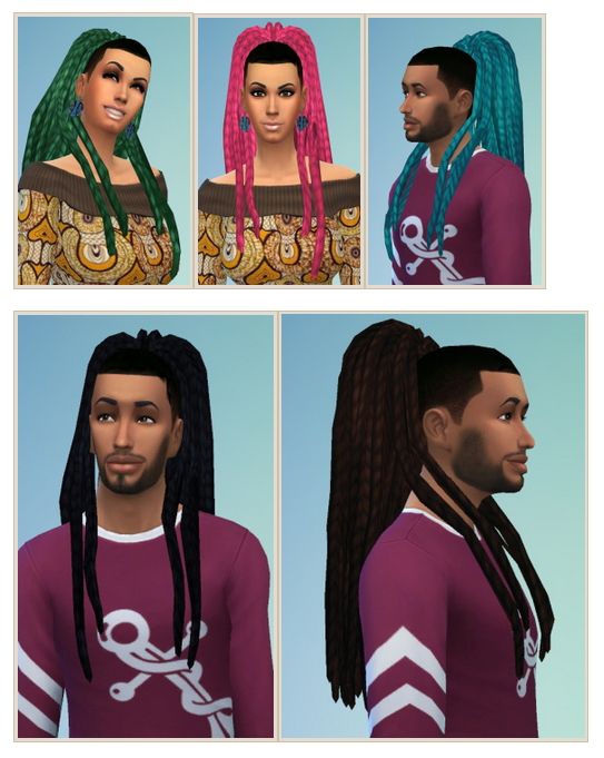 Ebonix Nouk Dreads Conversion Recolored at Birksches Sims Blog image 12313 Sims 4 Updates