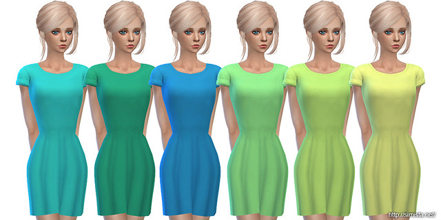Casual T Shirt Dresses at Simista image 1235 Sims 4 Updates
