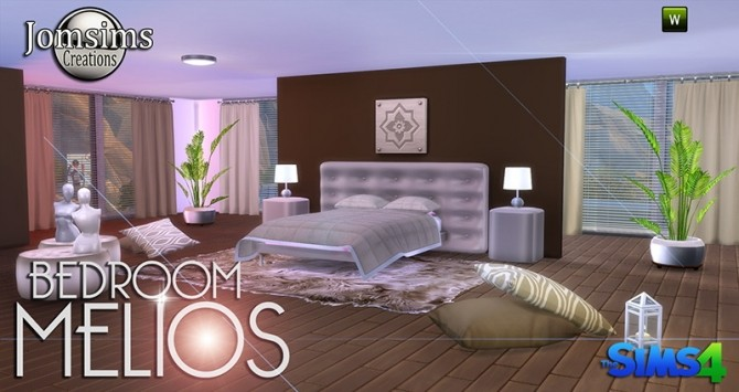 Sims 4 MELIOS BEDROOM at Jomsims Creations