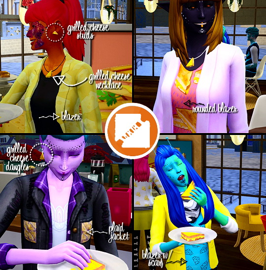 Sims 4 Grilled Cheese CC Stuff Pack by grilledcheese aspiration at SimsWorkshop