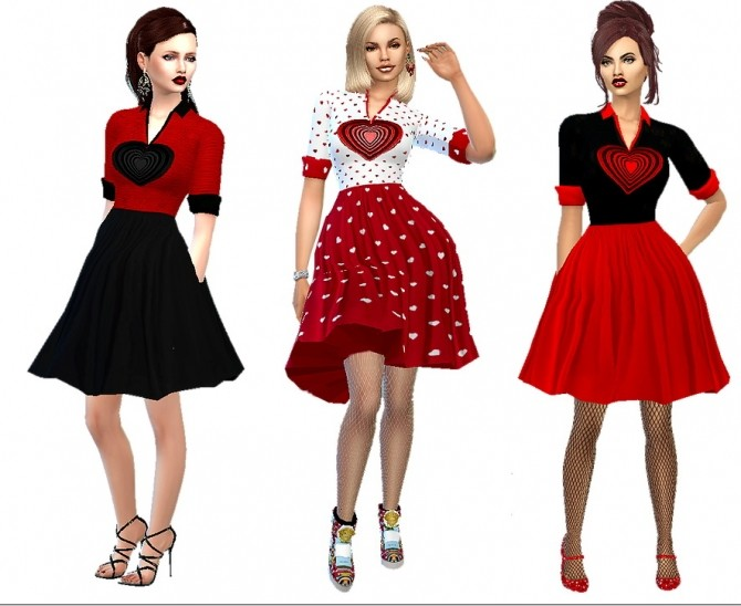 Be mine dress at Dreaming 4 Sims image 1247 670x548 Sims 4 Updates