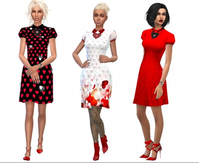 Be my Valentine dress at Dreaming 4 Sims image 1257 670x548 Sims 4 Updates