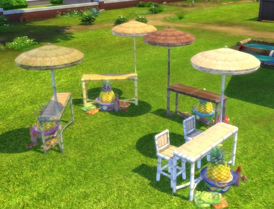 Tiki Keg Party Bar By BigUglyHag At SimsWorkshop