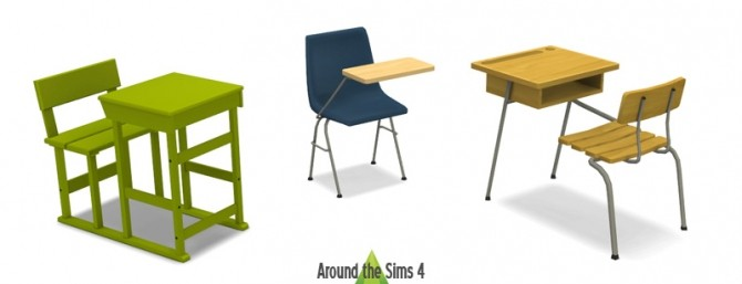Sims 4 Desk Chairs by Sandy at Around the Sims 4