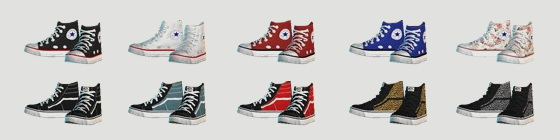 Pixicat High Sneakers Kids at Dream Team Sims image 1292 Sims 4 Updates