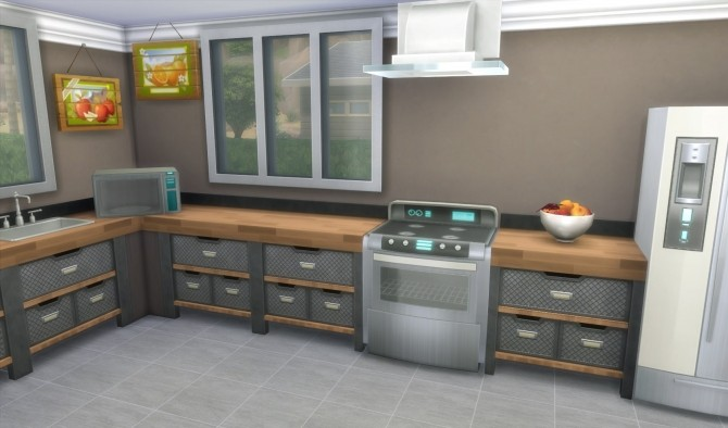 Sims 4 Sleek Stuff Modern Tile by CubicPoison at Mod The Sims