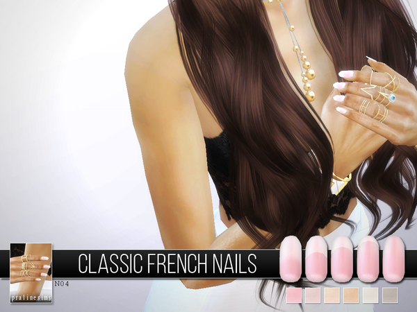 Sims 4 Classic French Nails N04 by Pralinesims at TSR