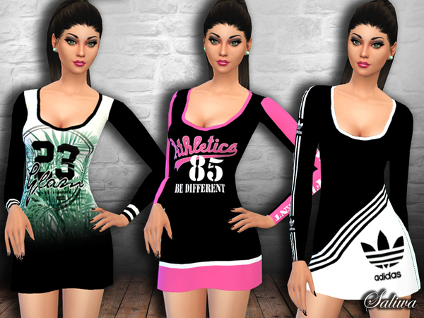 Ladies Casual Sporting Dresses by Saliwa at TSR image 1320 Sims 4 Updates