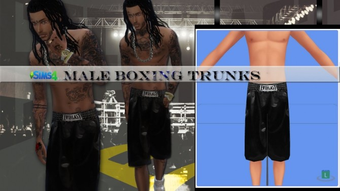 Sims 4 Cheap Boxing Trunks (Male) at Rimshard Shop