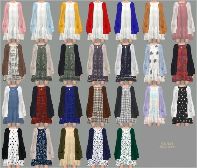 Sims 4 Spring Dress With Cardigan at Marigold