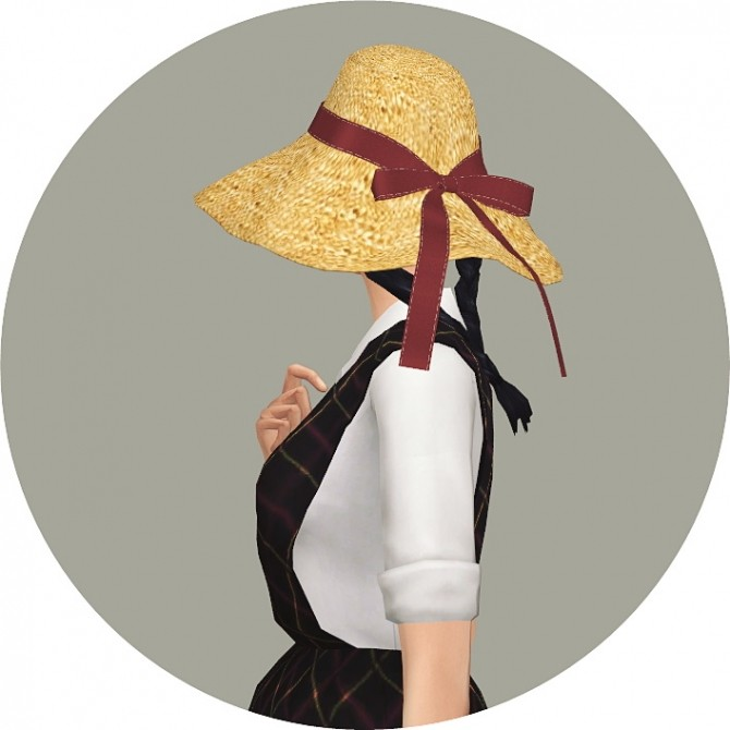 Back Ribbon Wide Floppy Hat at Marigold image 1366 670x670 Sims 4 Updates
