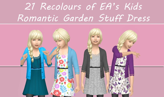 Sims 4 Romantic Garden Stuff Dress Recolour by xDeadGirlWalking at SimsWorkshop
