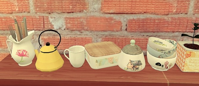 Sims 4 Kitchen clutter at Coralitt Sims
