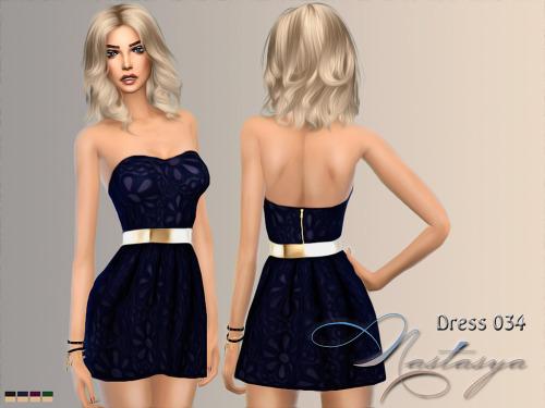 Dress 034 at Nastasya94 image 1384 Sims 4 Updates