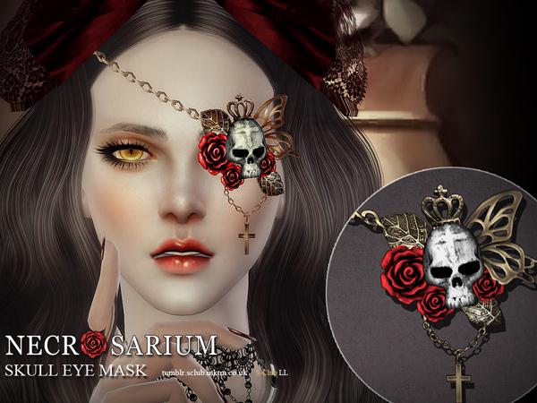 Sims 4 Skull Eyemask by S Club LL at TSR