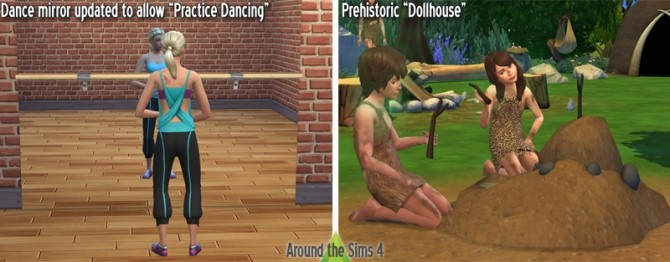 Sims 4 Prehistoric Dollhouse + Dancing Mirror *Updated at Around the Sims 4