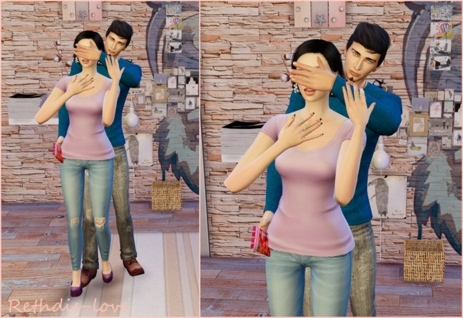 Sims 4 Be my Valentine Poses at Rethdis love