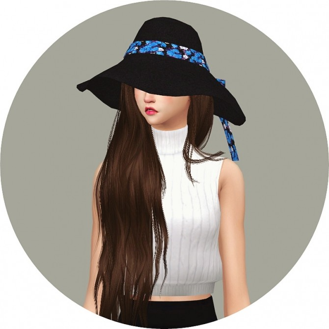 Back Ribbon Wide Floppy Hat at Marigold image 1408 670x670 Sims 4 Updates